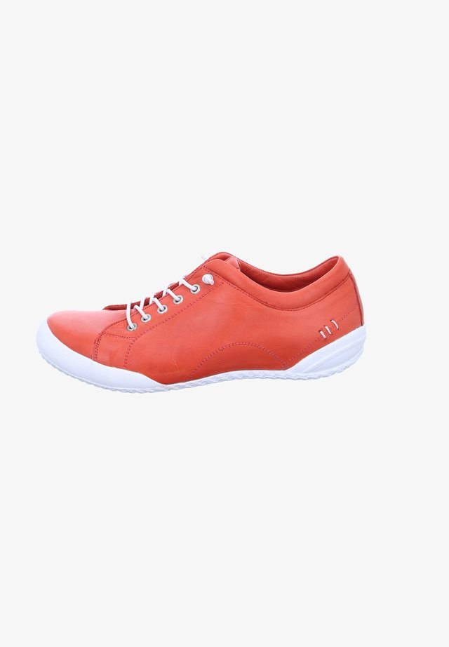 Casual lace-ups - red