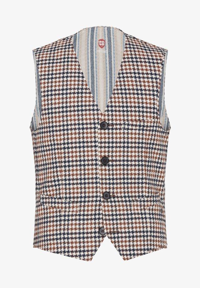 SLIM FIT - Suit waistcoat - light brown