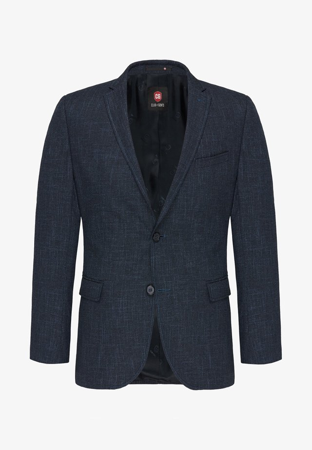 ASTON - Blazer jacket - blue-mottled