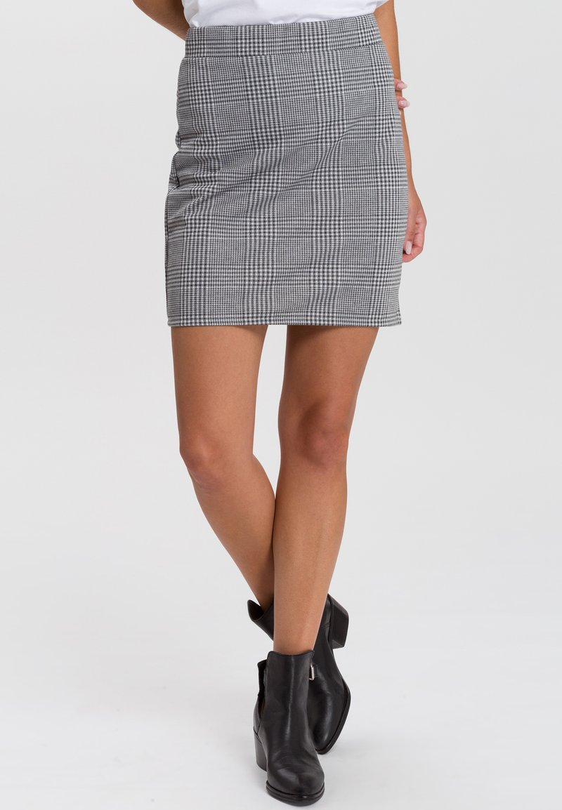 Cross Jeans - RÖCKE - Mini skirt - dark grey
