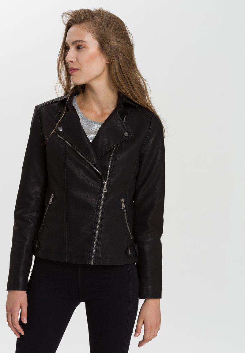 Cross Jeans - Faux leather jacket - black