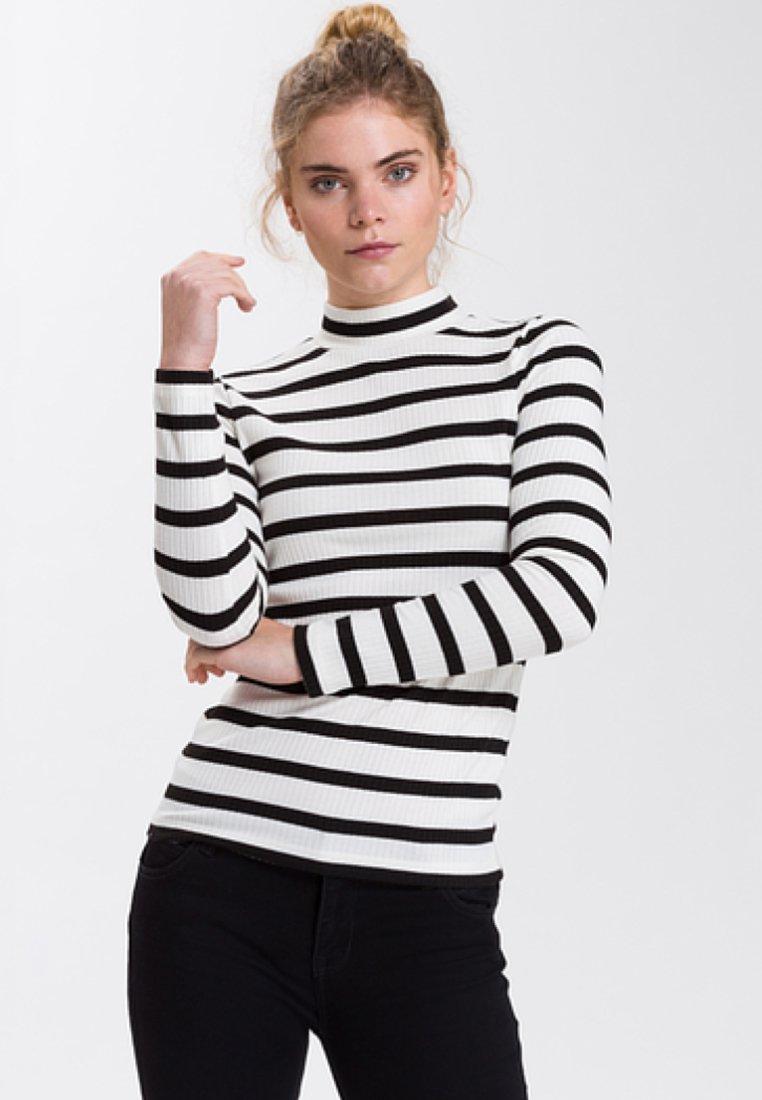 Cross Jeans - Long sleeved top - white/black