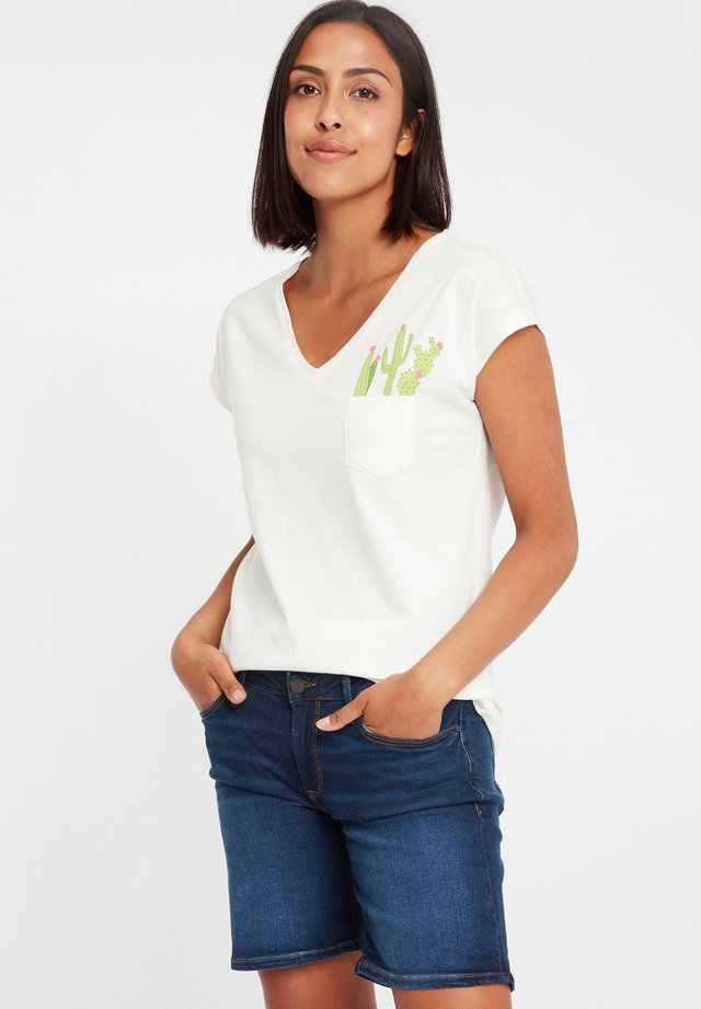 MIT ARM - Print T-shirt - ecru