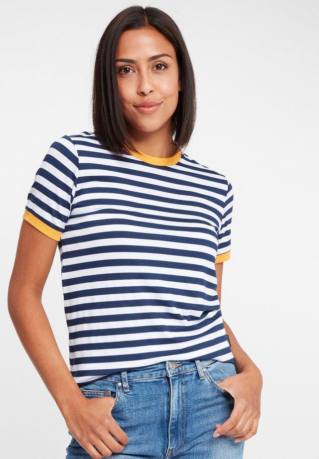 T-SHIRTS (MIT ARM) 55699 - Print T-shirt - navy-white