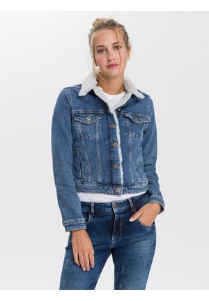 Denim jacket - light-mid-blue