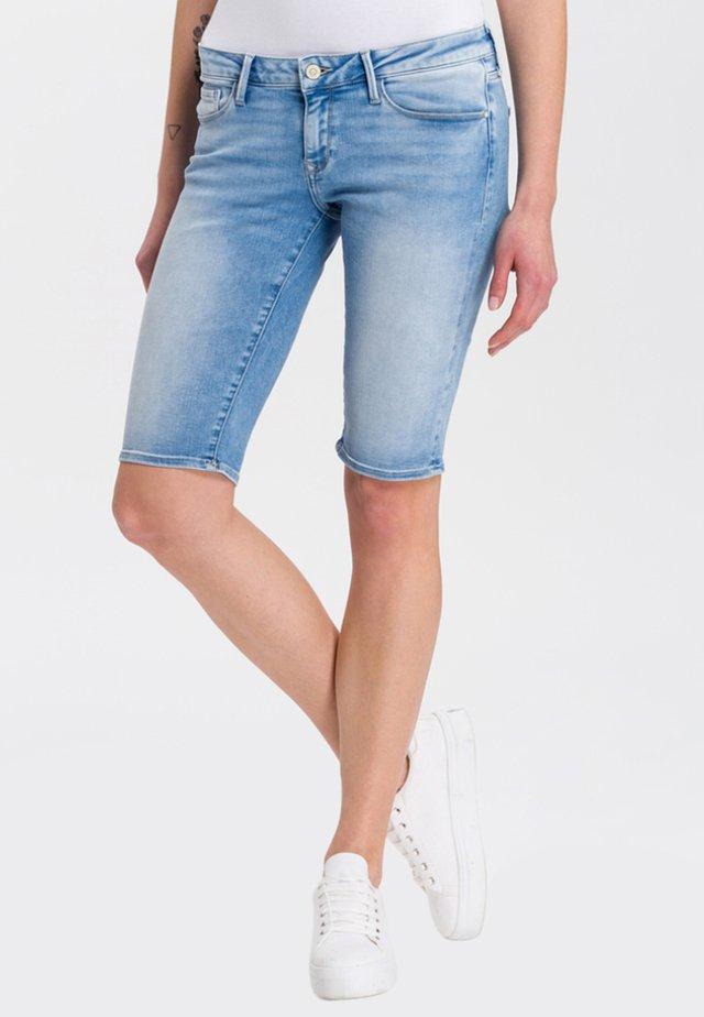AMY - Denim shorts - blue