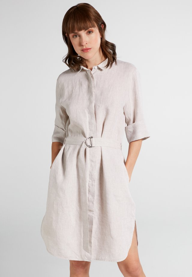 Robe chemise - taupe