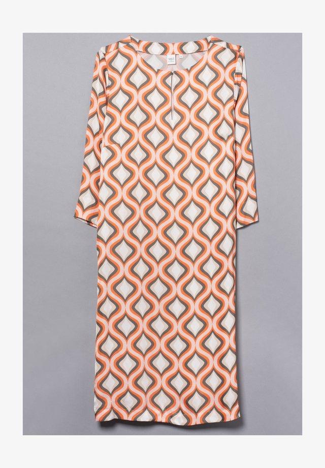 Korte jurk - orange/khaki/weiss