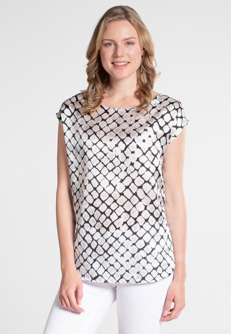 Eterna - MODERN CLASSIC - Bluse - black/white