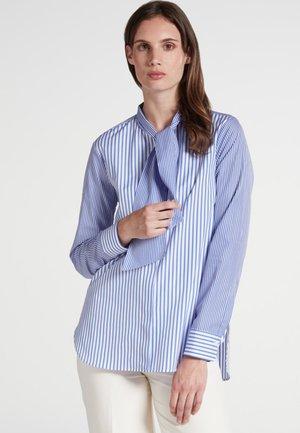 PREMIUM - Button-down blouse - blue/White