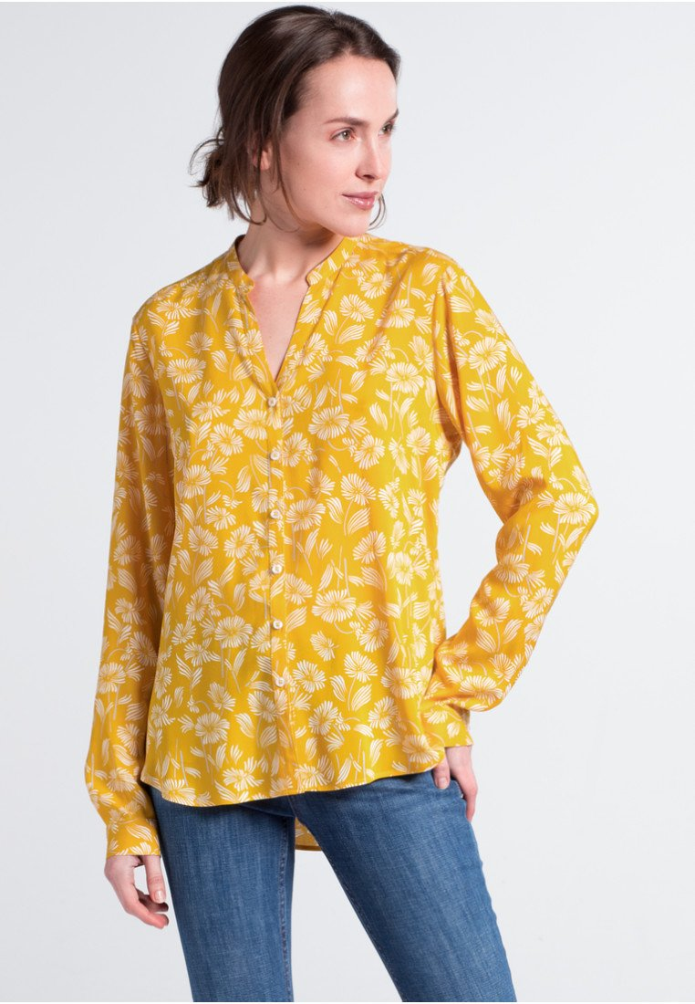 Eterna - MODERN CLASSIC - Button-down blouse - golden yellow