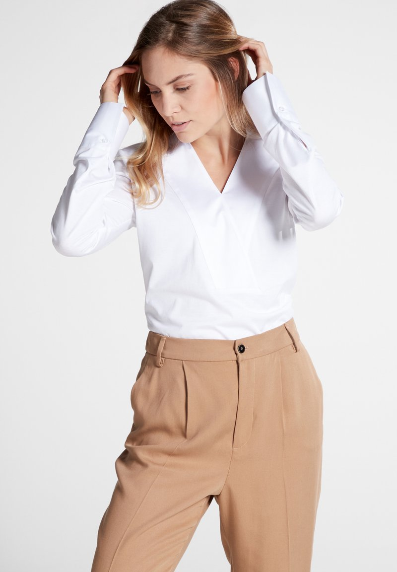 Eterna - LONG SLEEVE - Bluse - white