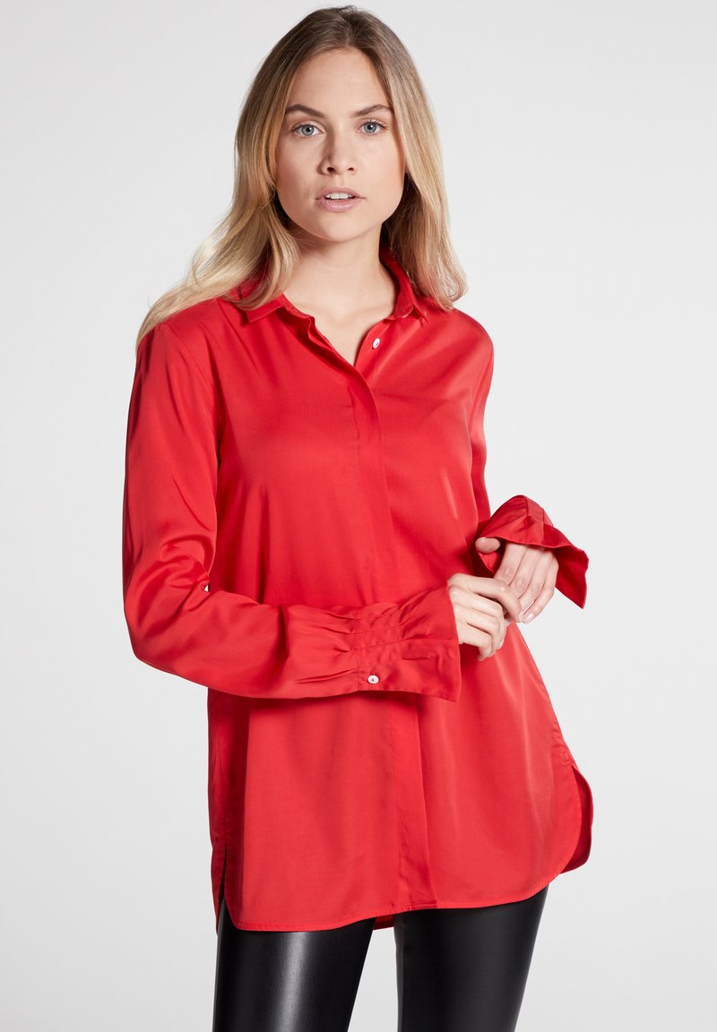 Eterna - LONG SLEEVE - Button-down blouse - red