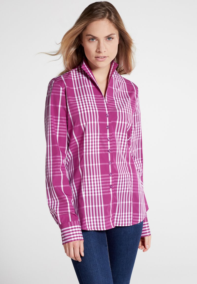 Eterna - LONG SLEEVE - Hemdbluse - pink/white
