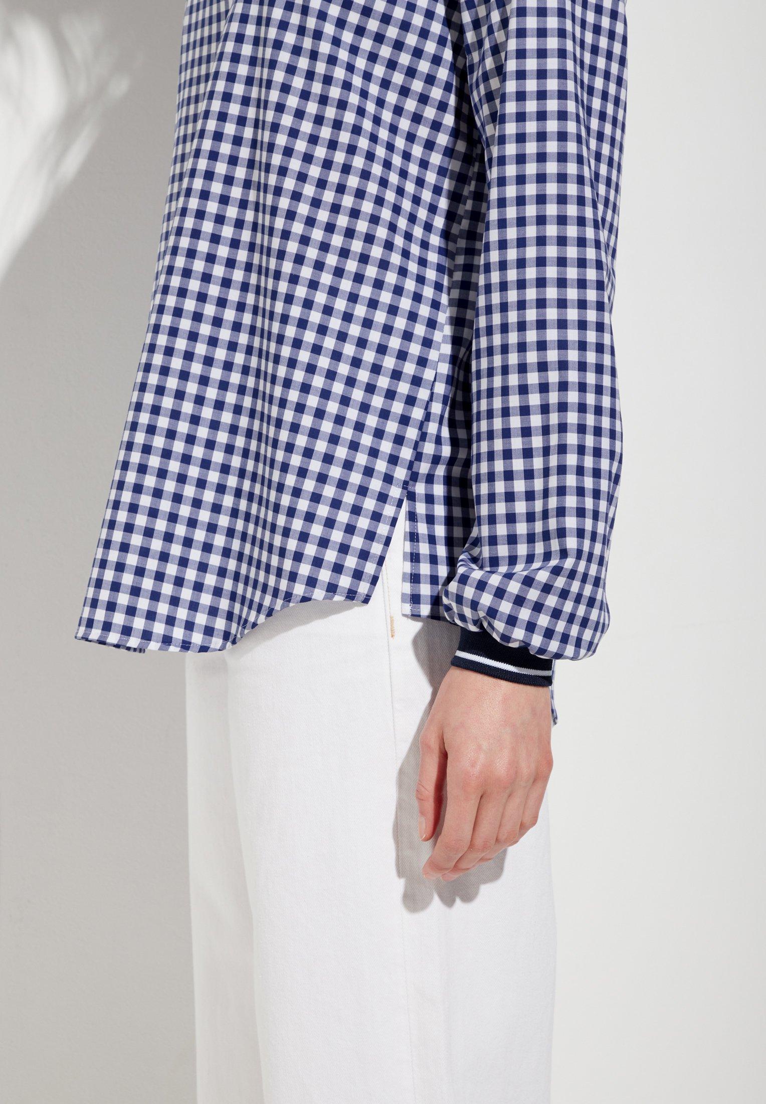 Eterna MODERN CLASSIC - Blouse - blue/white