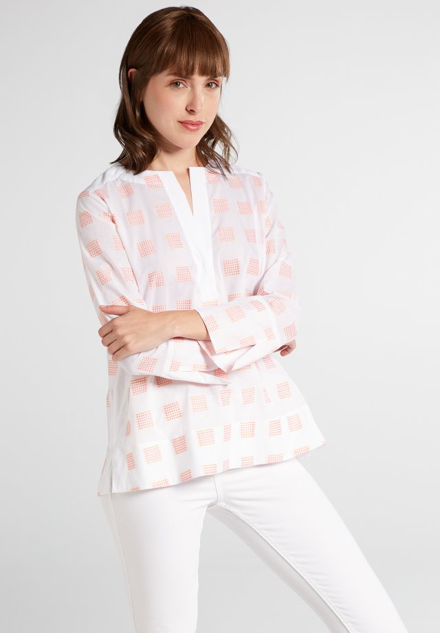 Blouse - orange/pink