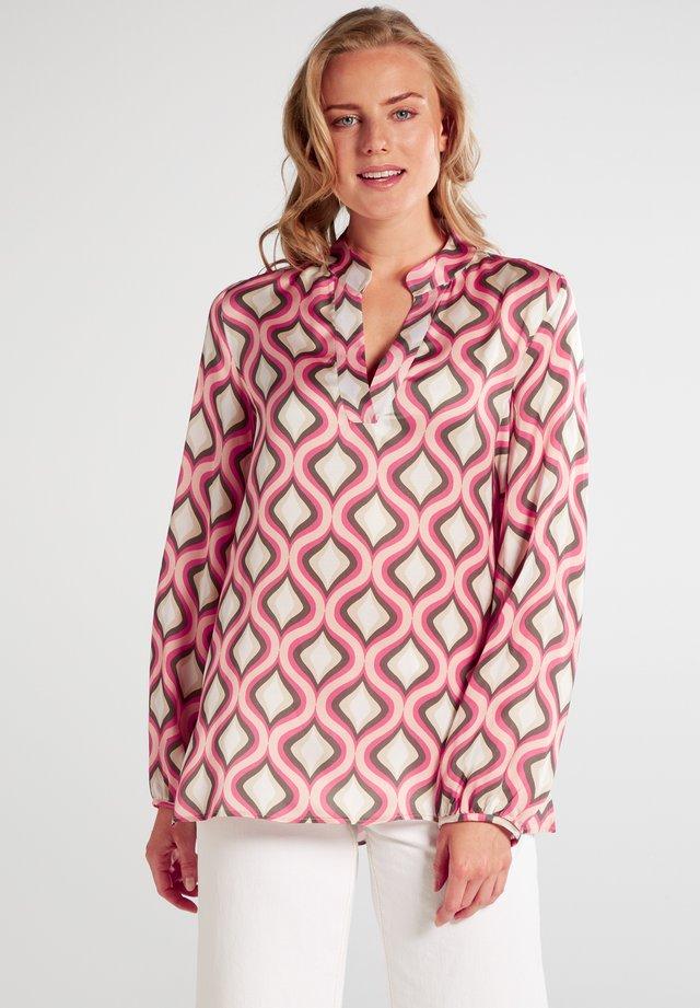 PREMIUM - Blouse - pink/khaki/weiss