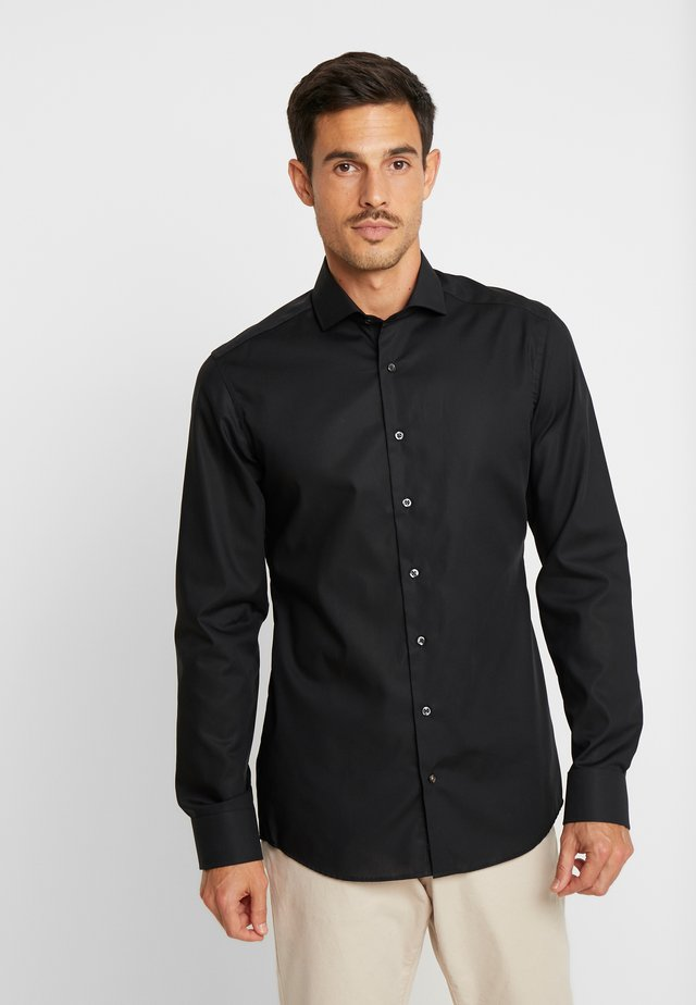 SLIM FIT - Finskjorte - black