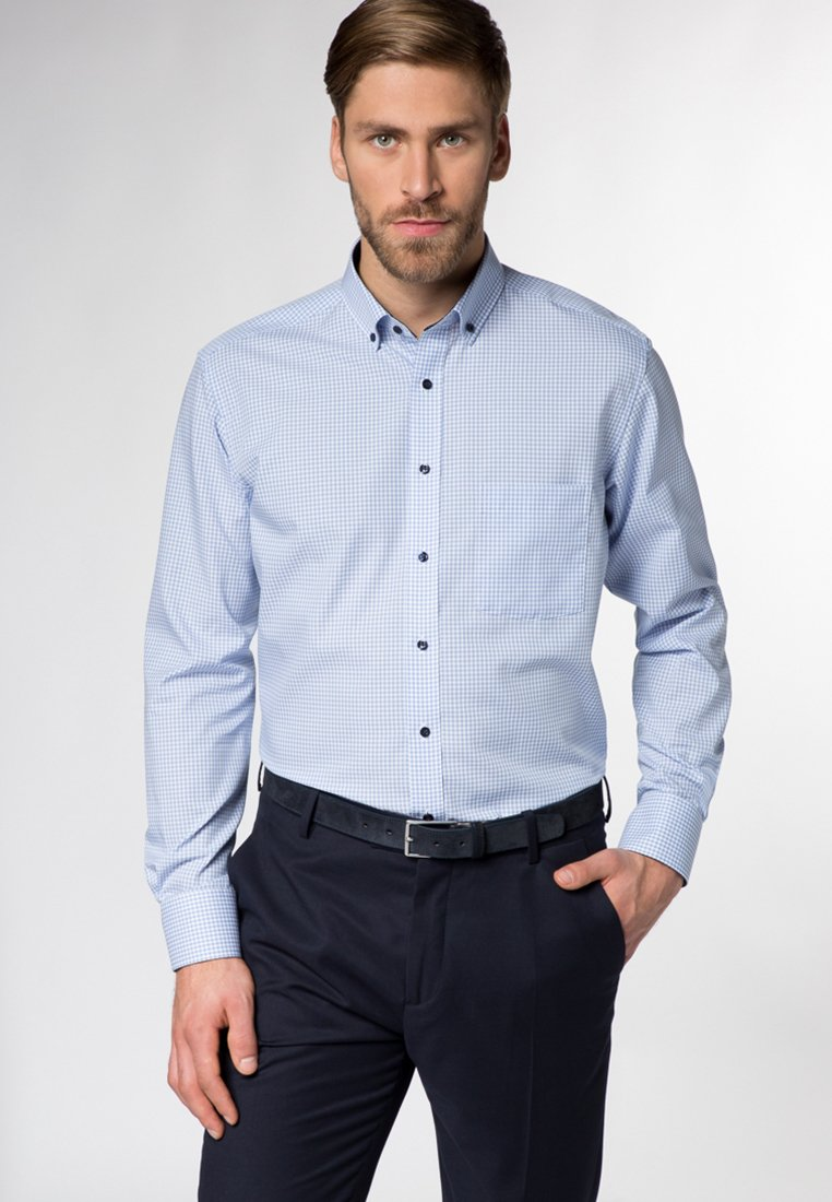 Eterna - FITTED WAIST - Shirt - blue