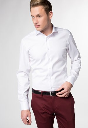 SLIM  FIT COVER SHIRT BLICKDICHT - Finskjorte - weiß