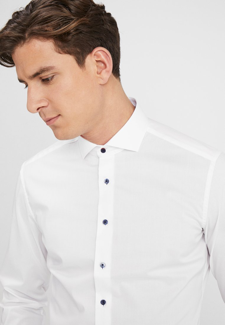Eterna SLIM FIT HAI MIT PATCH - Camicia - white
