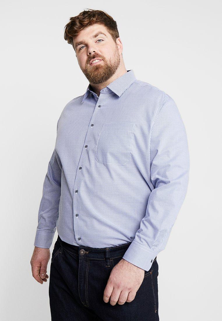 Eterna - BASIC KENT-KRAGEN MIT PATCH - Camicia - blue