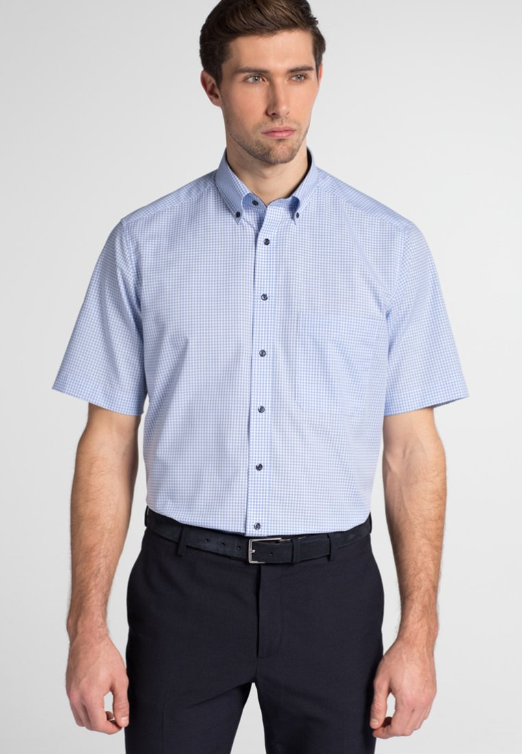 Eterna - REGULAR FIT - Shirt - light blue/white