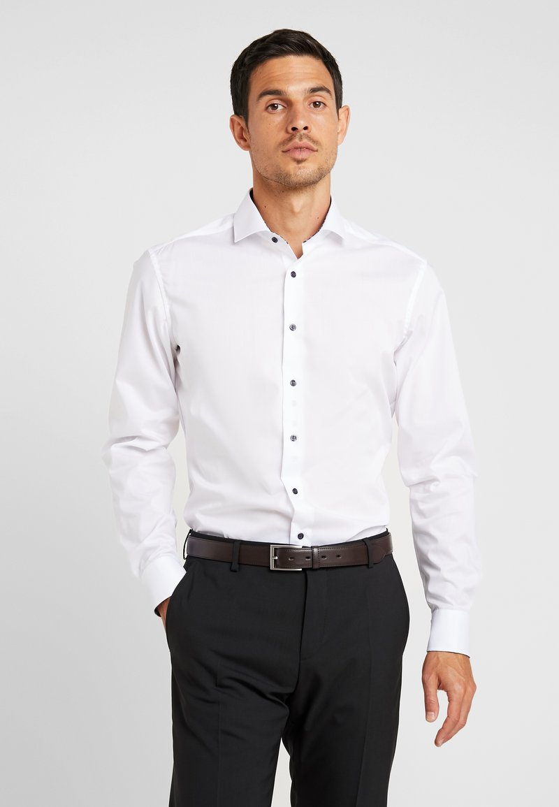 Eterna - SLIM FIT PATCH SEAS - Businesshemd - white
