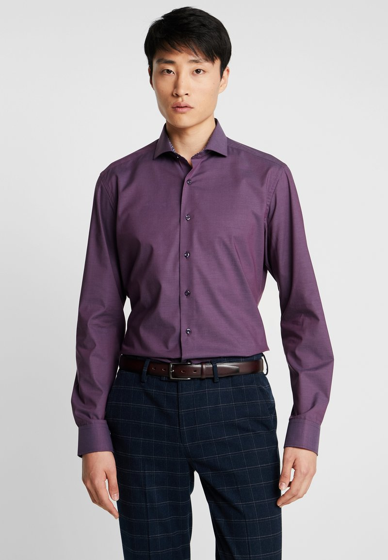 Eterna - SLIM FIT PATCH - Formal shirt - purple/black