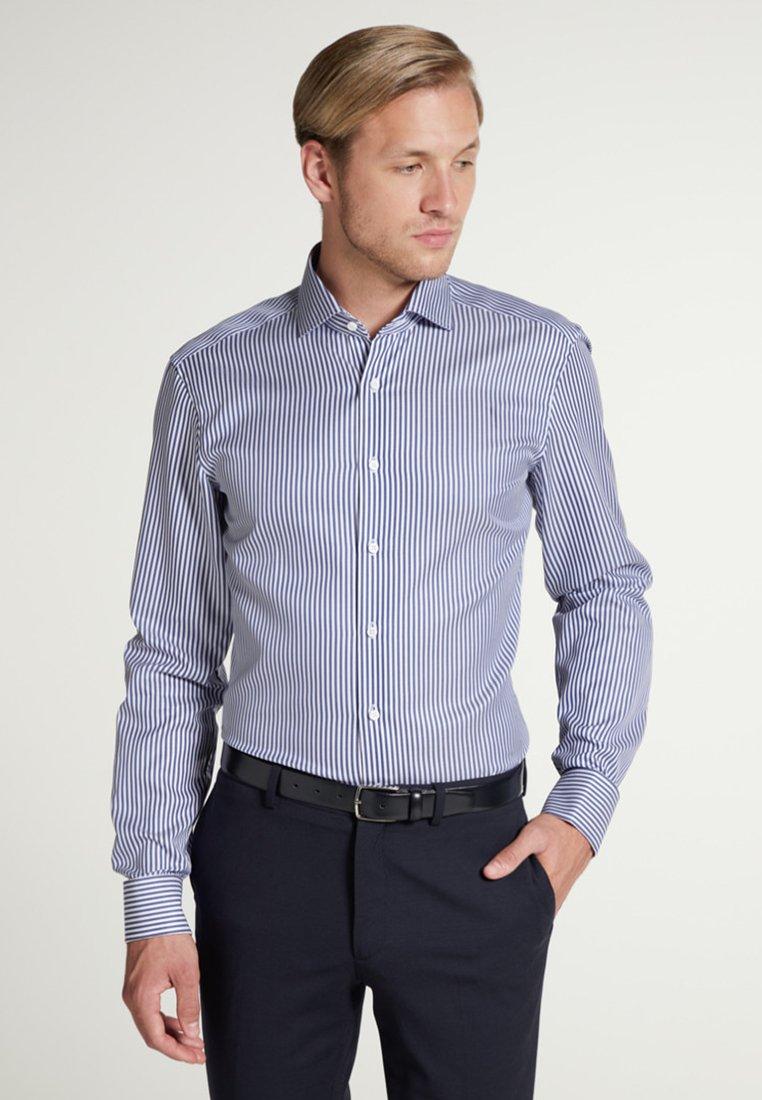 Eterna - SLIM FIT - Formal shirt - navy/white