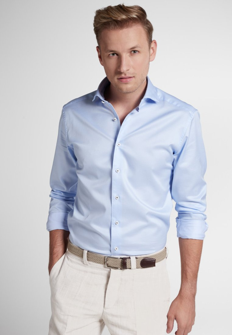 Eterna - SLIM FIT - Finskjorte - light blue