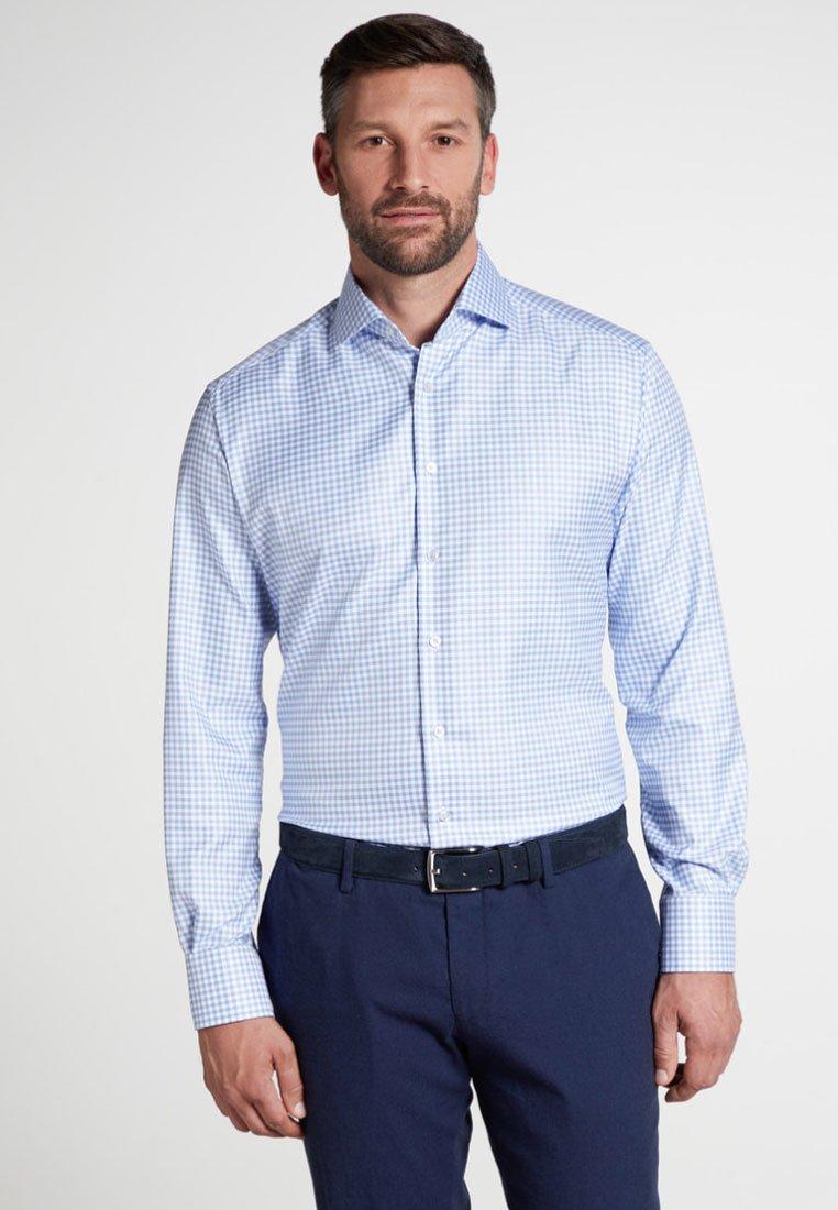 Eterna - FITTED WAIST - Hemd - light blue/white