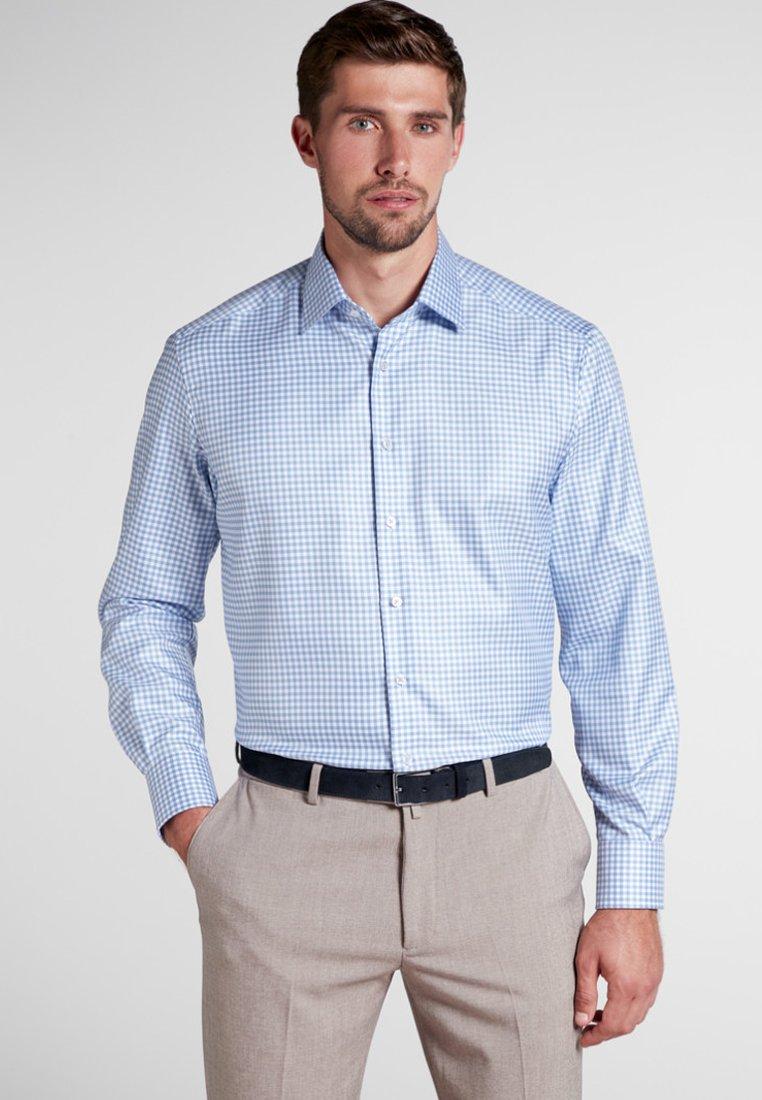 Eterna - COMFORT FIT - Hemd - light blue/white