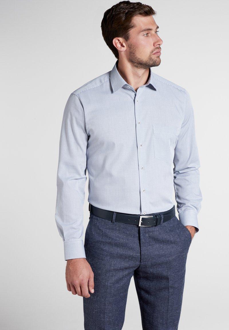 Eterna - MODERN FIT - Hemd - blue/white
