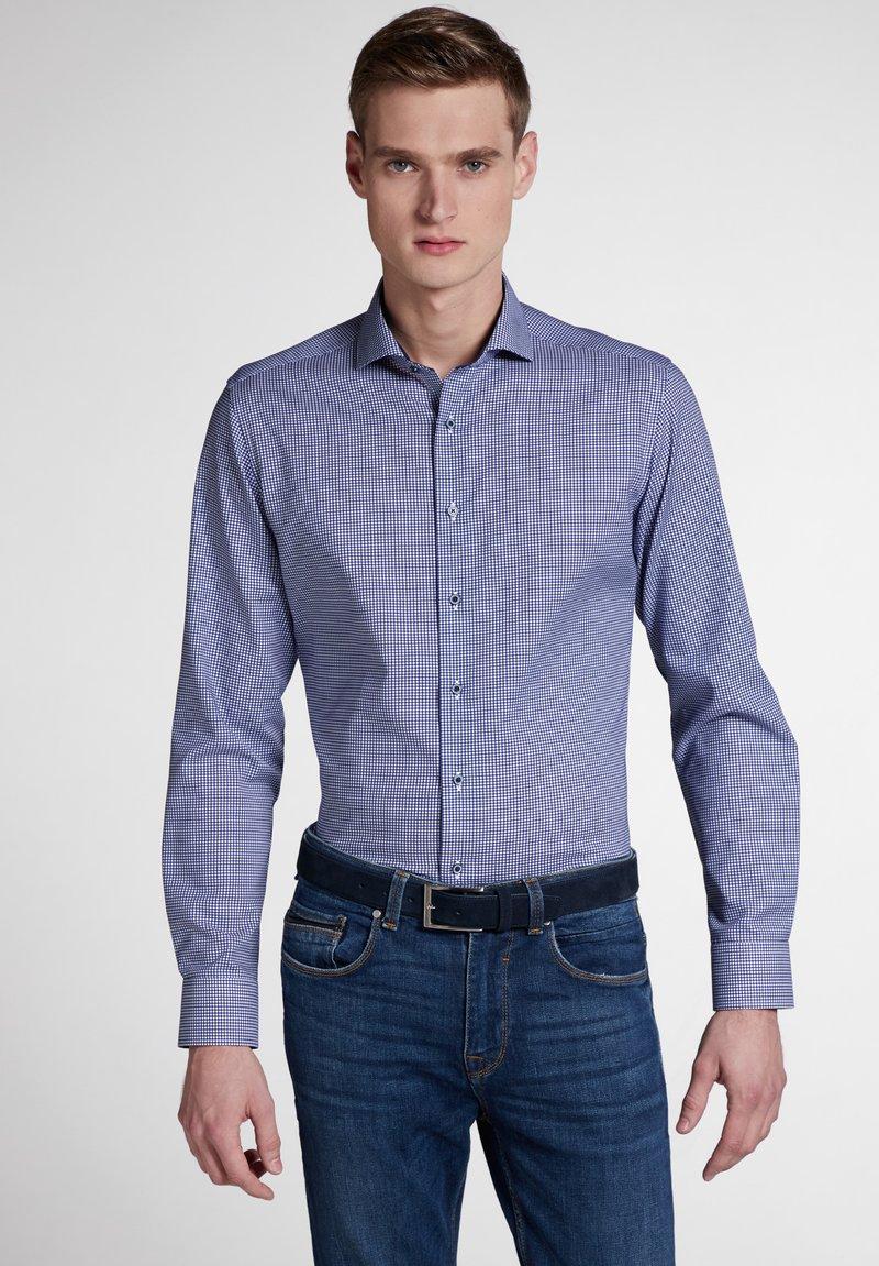 Eterna - SLIM FIT - Hemd - blue/white