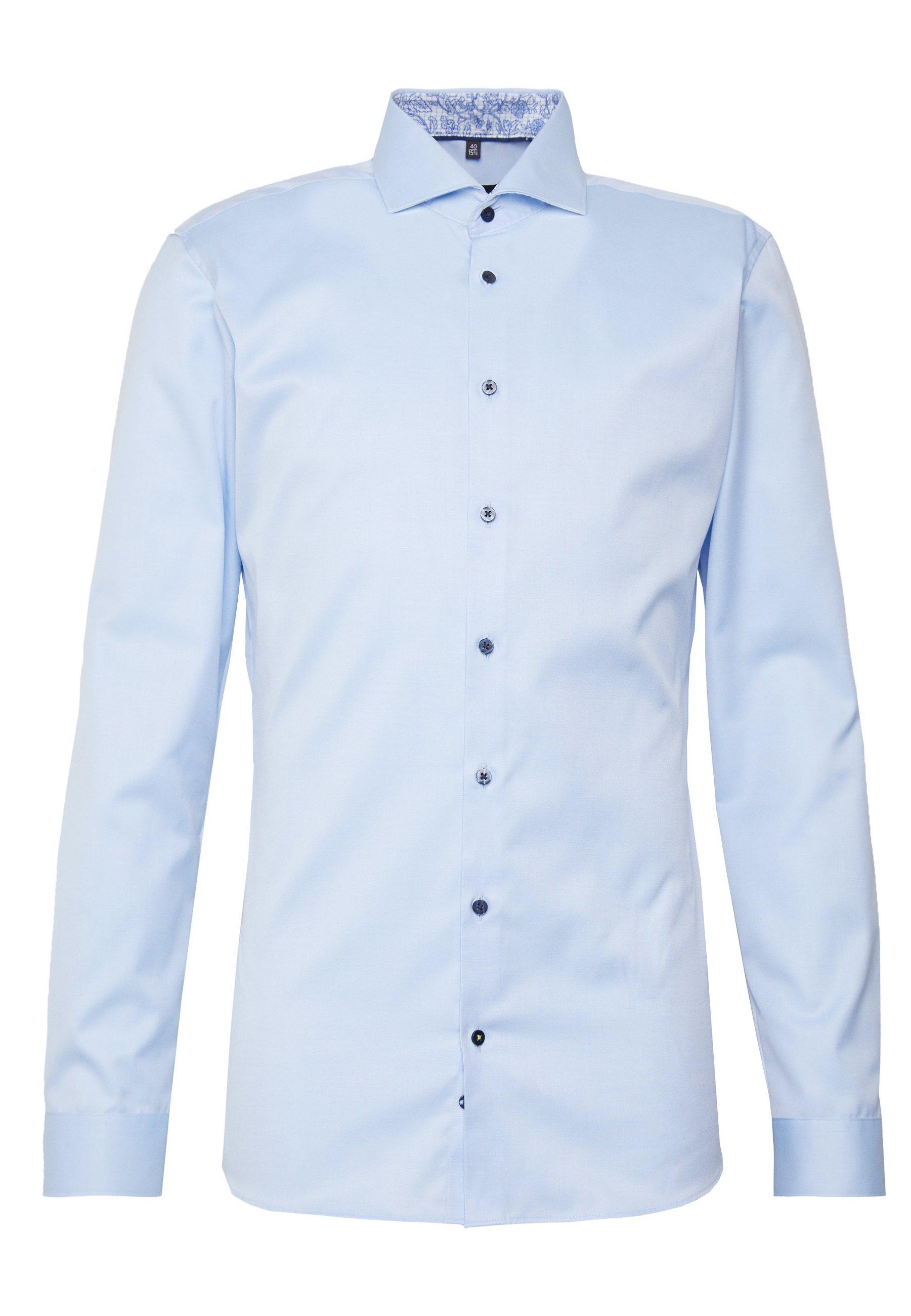 Eterna Super Slim Fit Hai-kragen - Businesshemd Blue Black Friday