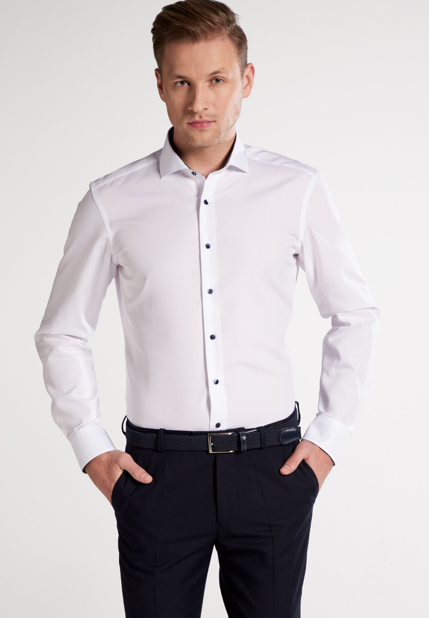 Eterna SLIM FIT - Businesshemd white