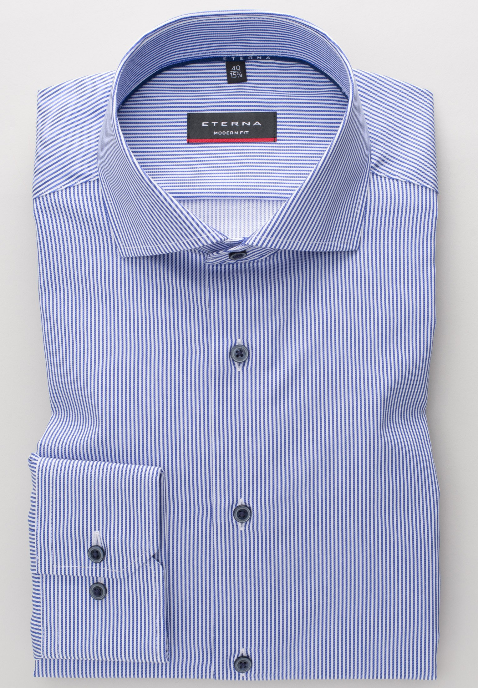 Eterna Modern Fit - Hemd Blue