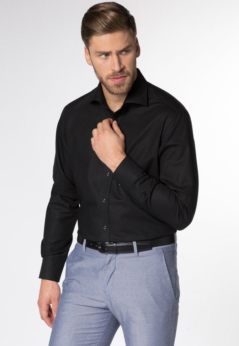 Eterna - FITTED WAIST - Hemd - black