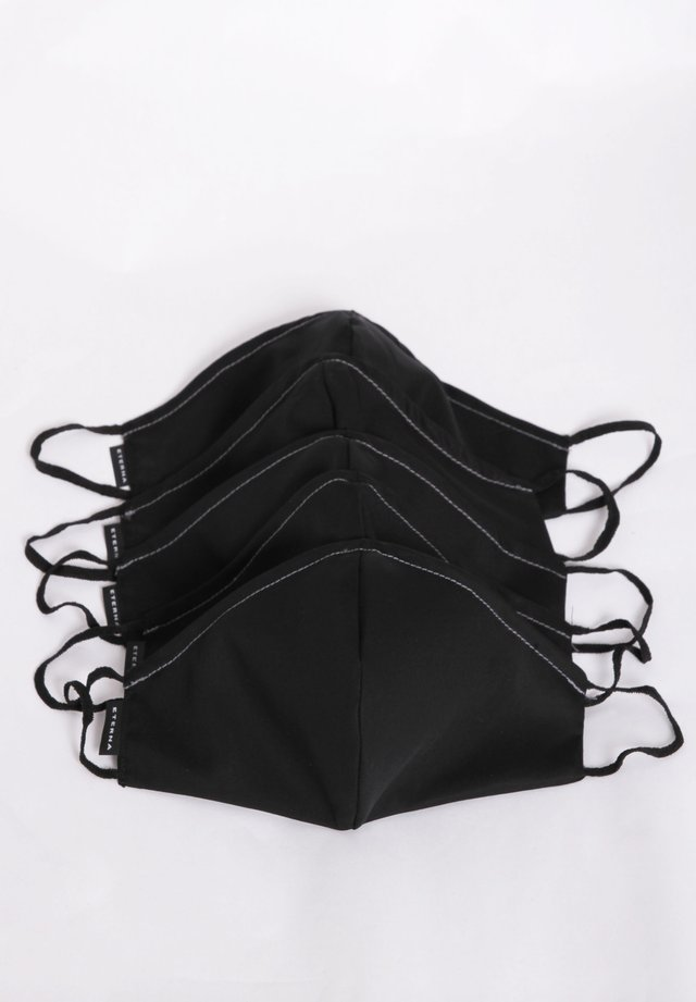 5 PACK - Stoffmaske - schwarz