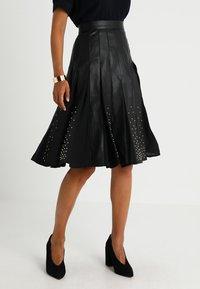 MARCIANO LOS ANGELES - MALVINA PLEATED SKIRT - A-line skirt - jet black - 0