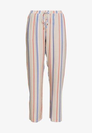 SLEEP & LOUNGE HOSE LANG - Pyjamabroek - beige/blue