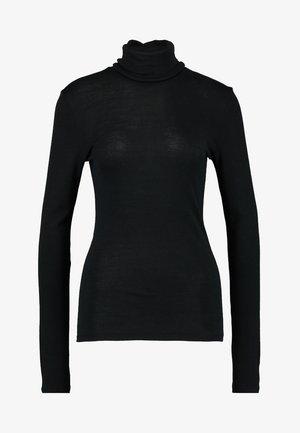 WOOLEN-SILK MIX - Hemd - black