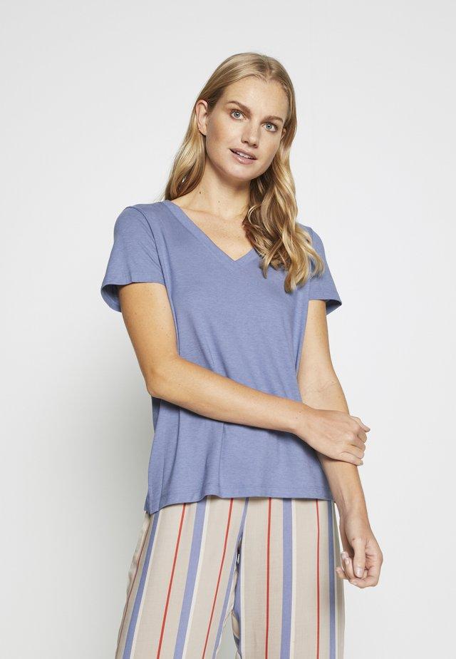 SLEEP & LOUNGE SHIRT  - Pyjamasöverdel - caribbean blue