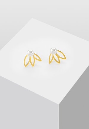MIT PERLE - Earrings - gold-coloured