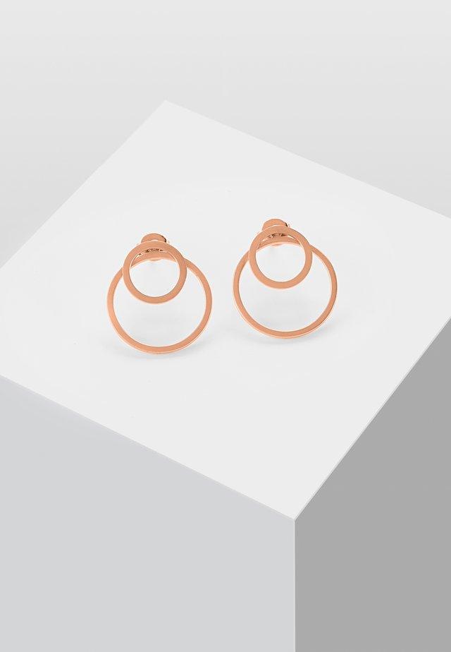 EAR JACKET 2 -IN -1 - Kolczyki - rose gold-coloured