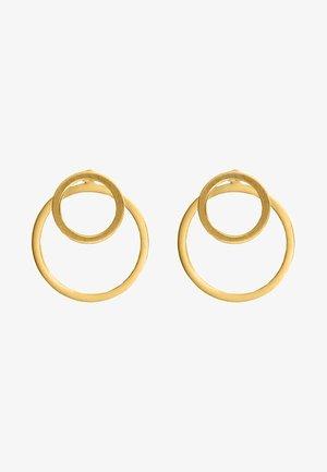 EAR JACKET 2 -IN -1 - Earrings - gold-coloured