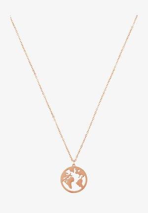 WELTKUGEL GLOBUS - Necklace - rose gold-coloured