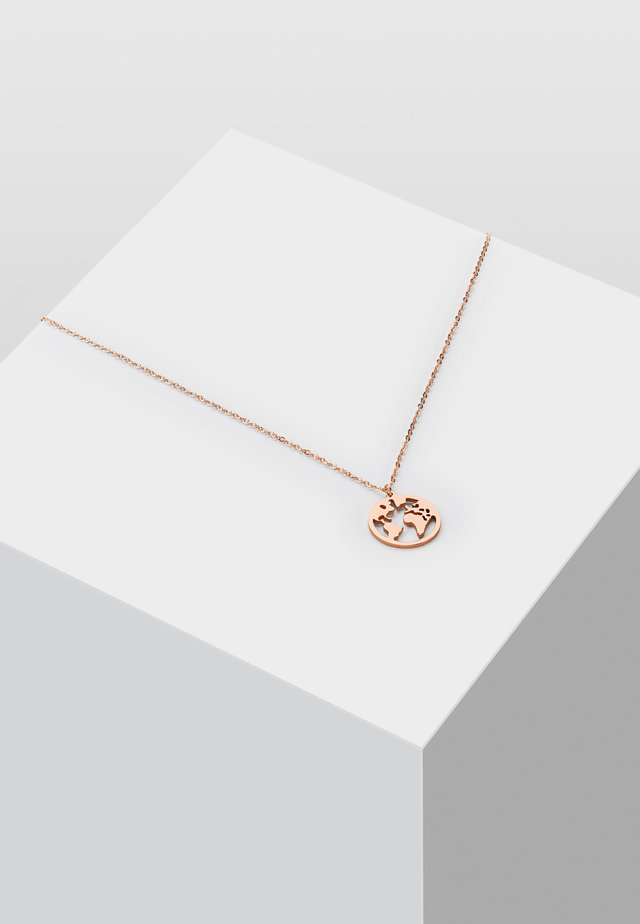 WELTKUGEL GLOBUS - Halskette - rose gold-coloured