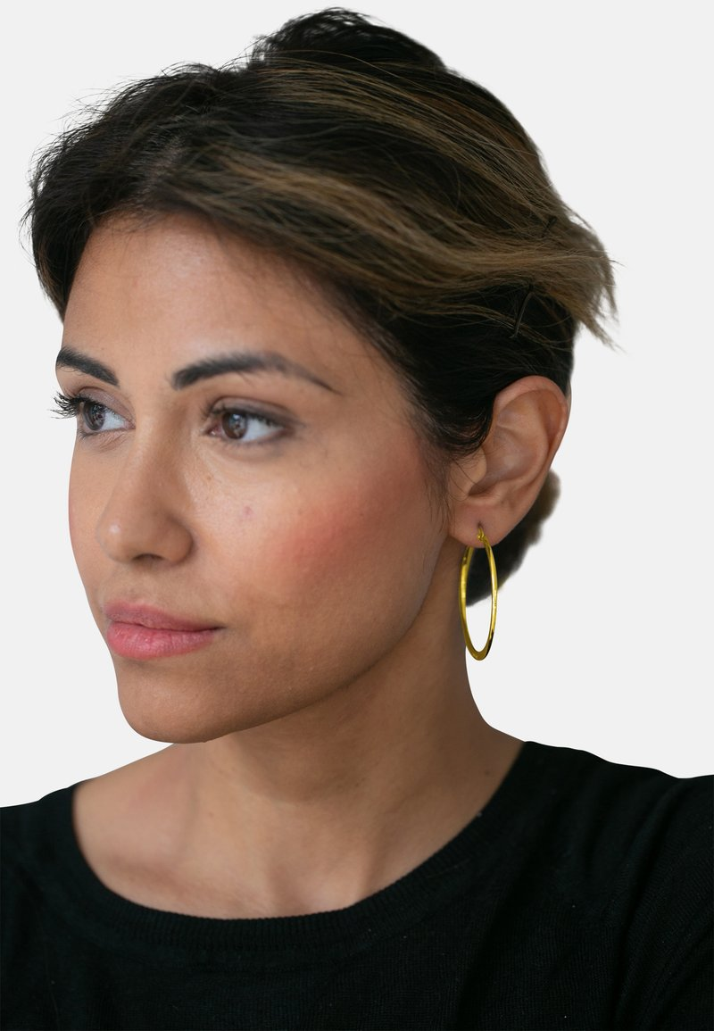Heideman - HEIDEMAN CREOLEN MIT CLIP - Earrings - goldfarben